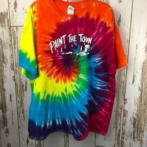 Paint the Town, Tye Dye T-shirt, Size 2XL.  C44